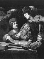 Lionello Spada, Concerto, 1615-1618, olio su tela, cm 143 x 172, Parigi, Musée du Louvre