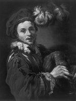 fig.39 Claude Vignon, Ritratto di Francois Langlois o il suonatore di cornamusa 1621 ca.